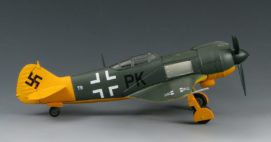 Starboard side view of SkyMax Models SM2003 - 1/72 scale Lavochkin La-5FN of aircraft captured and operated by Luftwaffe, Stendal, Germany, 1945. Diecast aircraft model. www.armchairaviator.com.au
