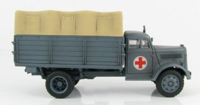 Hobby Master HG3904 - 1/72 scale Opel Blitz diecast model of a German Ambulance Truck, San Abt30, 30 Infanterie Divison Russia 1941.