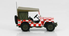 "Hobby Master HG1604 - 1/72 Scale 1/48 Scale Willys-Overland MB Jeep diecast model of the USAAF, Iowa ""Follow Me"" jeep. www.armchairaviator.com.au"