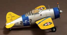 War Master APF0010 - 1/72 scale Brewster F2A Buffalo diecast aircraft model of VF-3, US Navy, USS Saratoga, 1939.