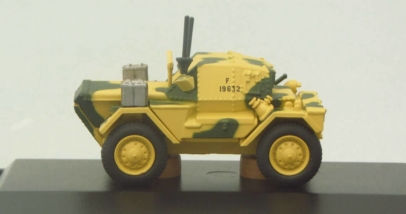 Oxford Diecast 76DSC001 - 1/76 scale Dingo Scout Car of the 50th RTR 23rd Armoured Brigade Tunisia, North Africa. www.armchairaviator.com.au