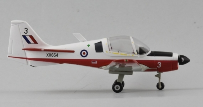 Starboard View Aviation72 AV72-25002 - 1/72 Scale Scottish Aviation Bulldog T1 Basic Trainer Diecast Model Aircraft of XX654, Royal Air Force Museum Cosford.
