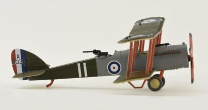 Starboard View Oxford Diecast AD002 - 1/72 Scale Airco DH4 Diecast Model Aircraft of 212 Squadron, RAF, Major Egbert Cadbury and Robert Leckie, August 1918.