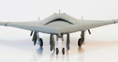 Front view Air Force 1 AF-A00015 - 1/72 Scale X-47B VX-23 USN Diecast Model Aircraft.