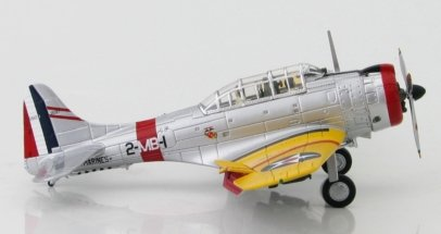 Starboard View Hobby Master HA0171 - 1/72 Scale Douglas SBD-1 Dauntless Diecast Model Aircraft of BuNo 1597, Squadron Commander of VMB-2, USMC, San Diego, 1940.