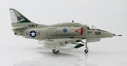 "Port View Hobby Master HA1425 - 1/72 Scale Douglas A-4F Skyhawk Diecast Model Aircraft of VA-55 ""Warhorses"", NP 515, USS Hancock, US Navy, Vietnam, 1972."