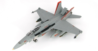 Front port side view of Hobby Master HA3529 - 1/72 scale diecast model of the McDonnell Douglas F/A-18C Hornet