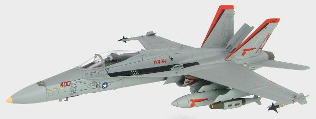 Front Port view ThumbHobby Master HA3529 – 1/72 Scale F/A-18C Hornet Diecast Model Aircraft.