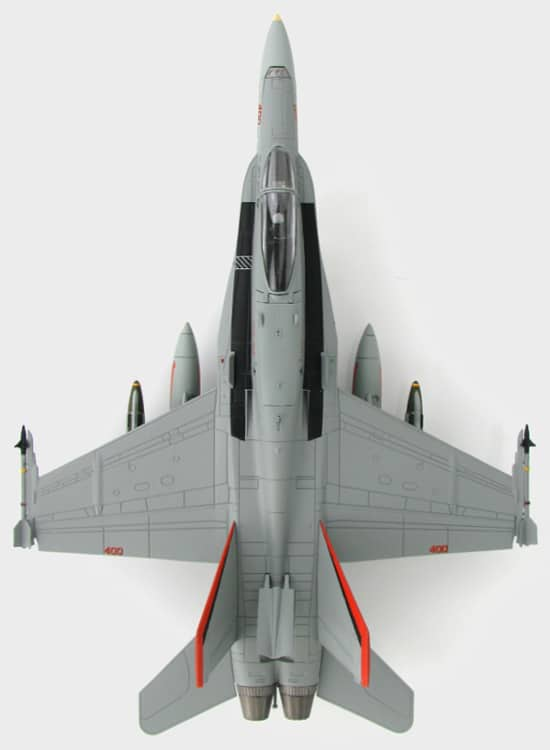 Top View Thumb Hobby Master HA3529 – 1/72 Scale F/A-18C Hornet Diecast Model Aircraft.