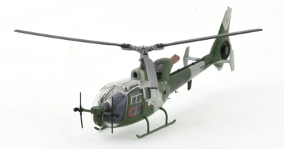 Front Port View Aviation72 AV72-24004 (AV7224004) - 1/72 Scale Westland Gazelle AH 1 Diecast Model Aircraft. S/N ZB692, British Army Air Corps. AAC Middle Wallop, 2010.