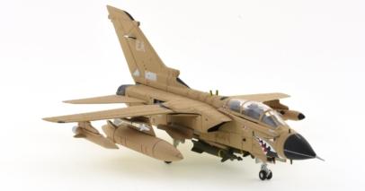 "Front Starboard Corgi AA39806 - 1/72 Scale Panavia Tornado GR1 Diecast Model Aircraft of ZA447/EA, ""MiG Eater"", XV Sqn, RAF, Operation Granby 1991."