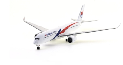 Front Port View Inflight200 IF350MH001 – 1/200 Scale Airbus A350-900 Diecast Model Aircraft. Registration 9M-MAB, Malaysia Airlines.