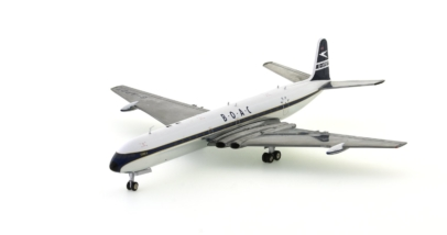 Front port view of ARD200 ARD2012 - 1/200 scale diecast model of the de Havilland DH 106 Comet 4 airliner, registration G-APDT. In the livery of BOAC.