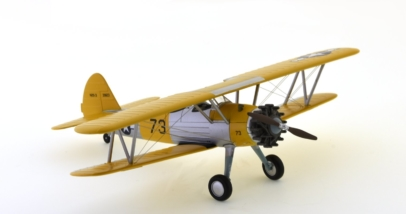 Front starboard side view of Hobby Master HA8109 - 1/48 scale diecast model of the Stearman (Boeing) N2S-3 US Navy