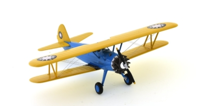 Front starboard side view of Hobby Master HA8110 - 1/48 scale diecast model of the Stearman (Boeing) PT-17